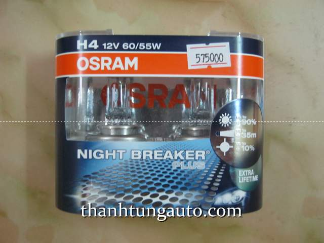 Đèn NIGHT BREAKER  OSRAM PLUS 90 H4